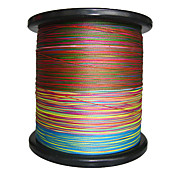 2000m 4 Carriers PE Braided Fishing Line (Rainbow)