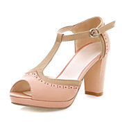 Leatherette Chunky Heel Sandals With Hollow-out Casual / Party / Evening Shoes (More Colors)