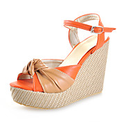 Leatherette Wedges Sandals With Split Joint Party / Evening / Casual Shoes (More Colors)