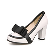 Amazing Leatherette Chunky Heel Closed Toe With Bowknot Party / Evening Shoes(More Colors)