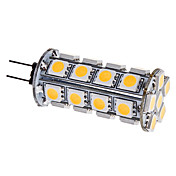 G4 3.5W 30x5050SMD 280-310LM 3000-3500K Warm White Light LED Corn Bulb (12V)