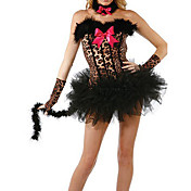 Sexy Cat Woman Leopard Halloween Costume (5 Pieces)