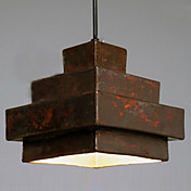 40W Retro anheng lys med Rusty Metal Shade