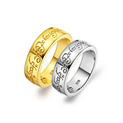 Elegant Platinum Plated/Gold Plated Non Stones Couples' Rings