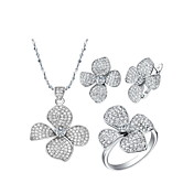18K Gorgeous Plated With Rhinestone Women's Including Necklaces Earrings Rings