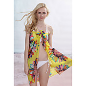Yellow Summer Sunflower Sarong (Lngde: 150cm Bredde: 105CM)