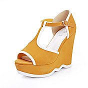 Stylish Suede Wedge Heel Sandals With Buckle Party / Evening Shoes(More Colors)