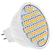 MR16 4W 60x3528 SMD 300-320LM 3000-3500K Warm White Light Bulb Spot LED (12V)