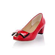 Fashion Leatherette Chunky Heel Closed Toe With Bowknot Party / Evening Shoes(More Colors)