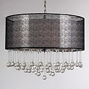 160W Modern Pendant Light with 4 Lights Fissure Style Shade Glass Water Droplet