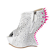 Marvelous Suede Stiletto Heel Peep Toe With Rhinestone Party / Evening Shoes