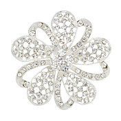 Elegant Alloy With Rhinestones Women's Brooch