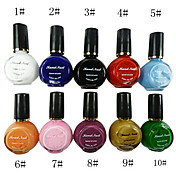 10 farger ren farger uv byggmester gel Nail Art 10ml