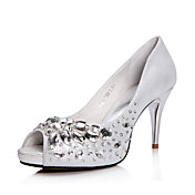 Fashion Leather Stiletto Heel Pumps With Rhinestone Party/Evening Shoes(More Colors)