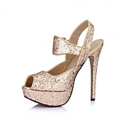 Specific Sparkling Glitter Stiletto Heel Pumps With Buckle Party/Evening Shoes