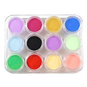 12 Color Nail Art Sculpture Carving Acrylic Powder