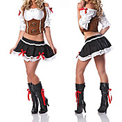 Princess Seires Brown and Black Polyester Pirate Princess Costume (3 Pieces)