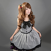 Sleeveless Short Gray Cotton Gothic Lolita Dress