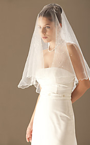 Beautiful 1 Layer Elbow Length Wedding Veil