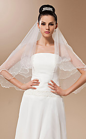 One-tier Tulle With Pearls Elbow Veil (More Colors)