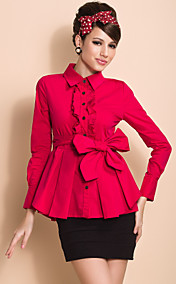TS Ruffle Pleats Blouse Shirt (Two Colors)