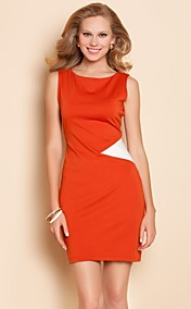 TS Simplicity Contrast Color Jersey Slim Dress