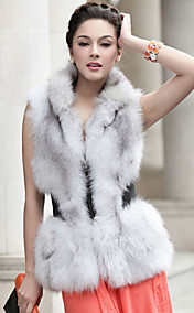 Gorgeous Standing Collar Fox Fur Casual/Party Vest (More Colors)