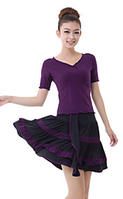 Dancewear Viscose Latin Dance Outfit Top en Rok Voor Dames