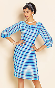 TS Stripes Chiffon Slim Dress