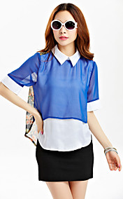 TS Bow Print Back Chiffon Blouse