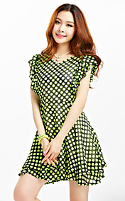 TS Ruffle Dots A Line Dress