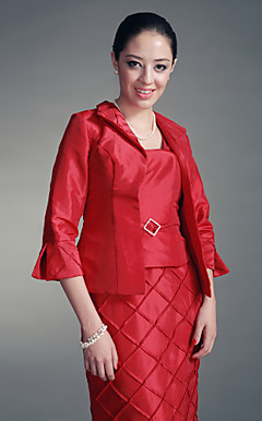 3/4-length Sleeves Taffeta Special Occasion Jacket/ Wedding Wrap