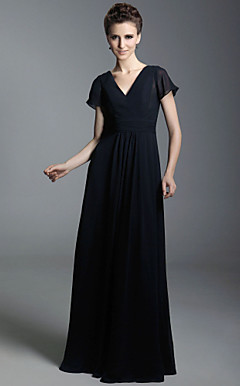 Chiffon Sheath/Column V-neck Floor-length Evening Dress inspired by Taylor Swift