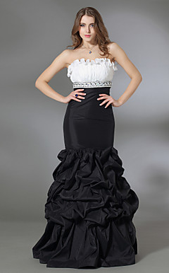 Trumpet/ Mermaid Strapless Floor-length Taffeta Prom/ Evening Dress