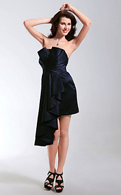 Satin Sheath/Column Strapless Short/Mini Cocktail Dress inspired by Grammy