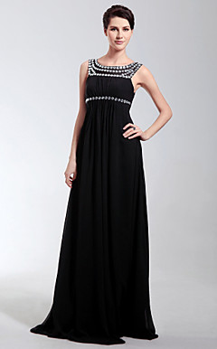 Empire Scoop Floor-length Chiffon Evening Dress