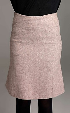 TS Flair Wool Blend Long Skirt