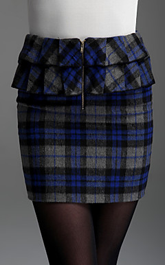 TS Checkered Ruffle Skirt
