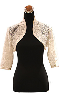 3/4-Length Sleeve Lace Wedding Jacket / Special Occasion Wrap
