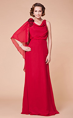 A-line Cowl Floor-length Chiffon Mother of the Bride Dress