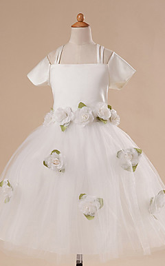A-line Knee-length Natural Waist Flower Girl Dress