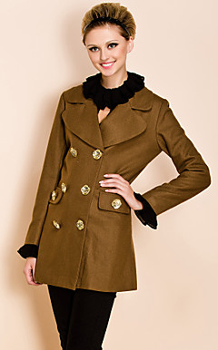 TS Double Breast Lapel Woolen Coat