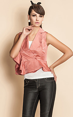 TS Irregular Ruffle Hem Vest
