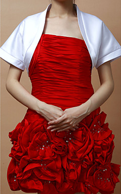 Fabulous Short Sleeves Satin Special Occasion Jacket/ Wedding Wrap (More Colors)