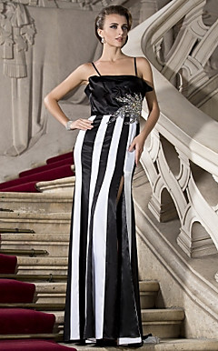 Sheath/Column Floor-length Satin Evening Dress