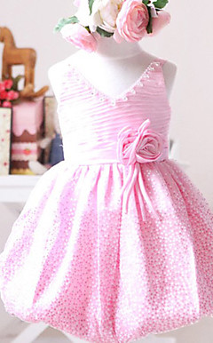 Lovely Straps Satin/Tulle Wedding/Evening Flower Girl Dress