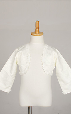 Flower Girl's Jacket With Beading Lace Evening/Wedding Wraps