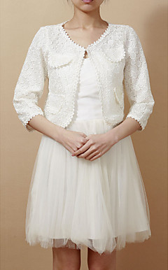 Half-Sleeve Lace Office & Career Jacket (More Colors)