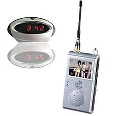 """venta al por mayor Sistema de seguridad inalámbrica de 1.2GHz (cámara espía encubierta w / apariencia del reloj y de 2,4 """"LCD del receptor) (SFA-010245)"""