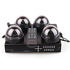 venta al por mayor cámaras de seguridad dvr kit con cuatro cámaras y la grabadora de vigilancia